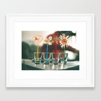 vodka Framed Art Prints featuring Vodka Flowers by Paulushaus