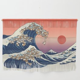 The Great Wave of Shiba Inu Wall Hanging