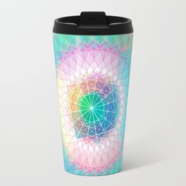 Orb Mandala 4 Baby blue Travel Mug