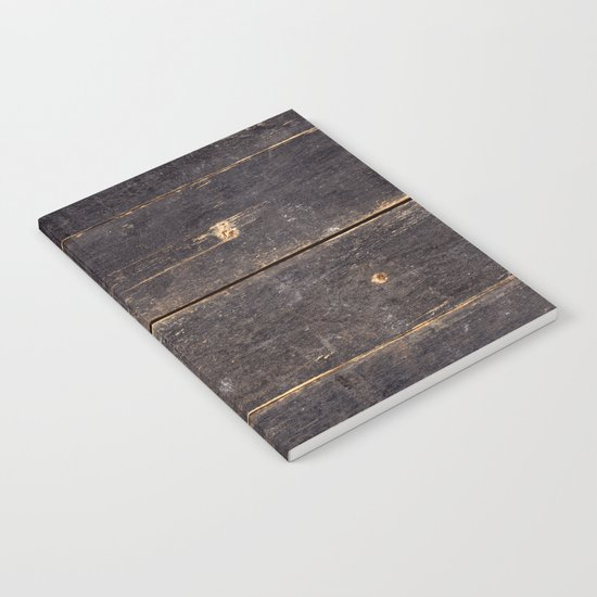 Vintage Black Wood Notebook