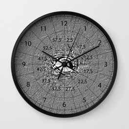 Cracy Lines - verrückte Linien   (A7 B0064) Wall Clock