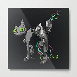 Mind the Cat Metal Print