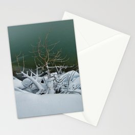Reaching For Warmth Stationery Cards