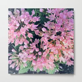 Fairy Dust Tiny Pink Magical Fantasy Flowers Metal Print