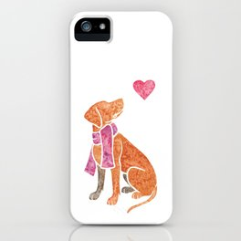 Watercolour Hungarian Vizsla iPhone Case