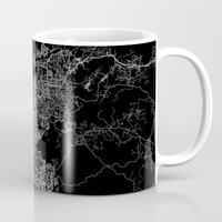 san diego Mugs featuring san diego map by Line Line Lines