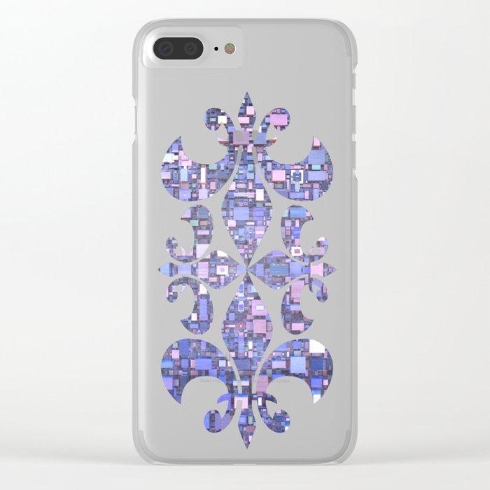 Blue Cubes Clear iPhone Case
