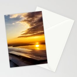 Aerial Sunset Above Seattle Stationery Cards