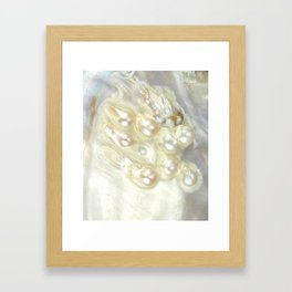 Shimmery Pearly Abalone Shell Framed Art Print