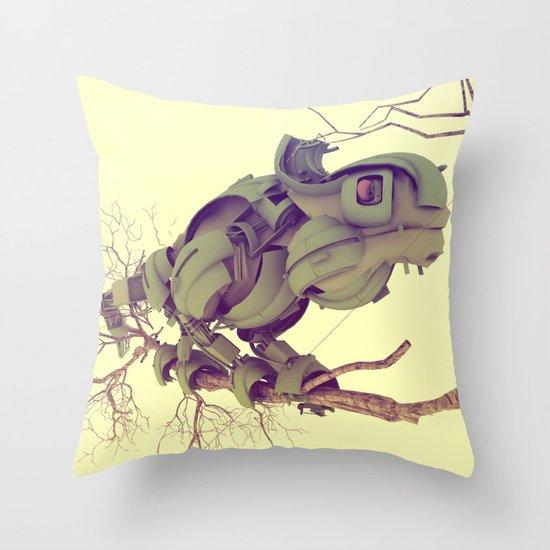 CYBORG CAMALEON Throw Pillow
