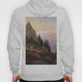 Sugar Loaf Peak El Dorado County 1865 By Thomas Hill | Reproduction Hoody