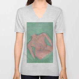 Nude Mini Green Unisex V-Neck