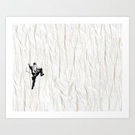 Climbing a Wrinkle Art Print