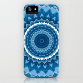 Blue mandala 2 iPhone Case