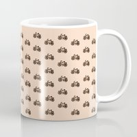 bikes Mugs featuring Bikes by andy_panda_