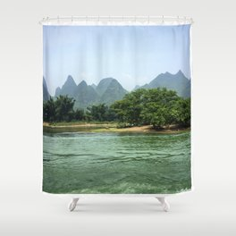 The Sheep & The Mountains Shower Curtain