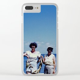 Fishing Ladies Clear iPhone Case