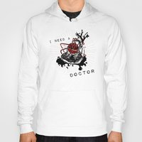 anatomical heart Hoodies featuring Anatomical Heart : Love to Hate. by rebecca miller