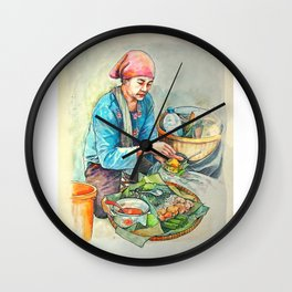 The javanese salad or pecel Wall Clock