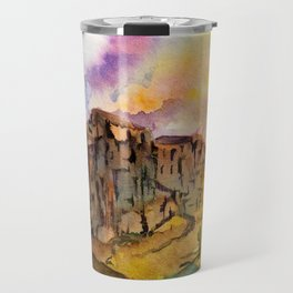 The Superstition Mountains Sunrise Travel Mug