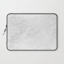 White Marble Silver Glitter Gray Laptop Sleeve