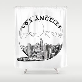 Los Angeles City in a Glass Ball Shower Curtain