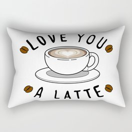 Love a Latte Rectangular Pillow