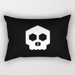 hex geometric halloween skull Rectangular Pillow