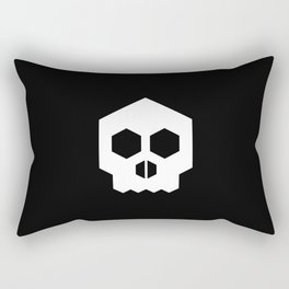hex geometric halloween skull Rectangular Pillow