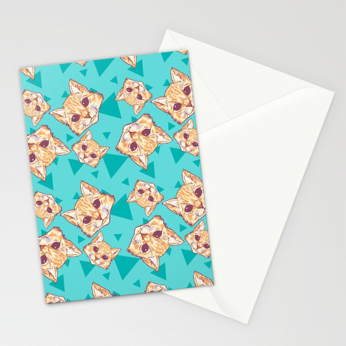 Aww Kitties Color pattern Stationery Cards