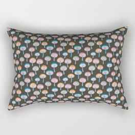 Pattern Project / Mushroom Pattern (Dark) Rectangular Pillow