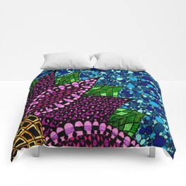 Stained Glass Flower Comforters
