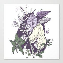 Garden Greenery - Purple Canvas Print