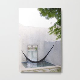 Relax & Recharge - Mindful Corner in Mexico Metal Print