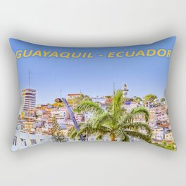 Santa Ana Hill, Guayaquil Poster Print Rectangular Pillow