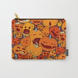 Halloween pumpkin pattern Carry-All Pouch