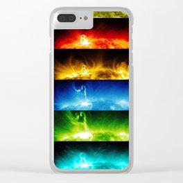 Solar Flare Rainbow Clear iPhone Case