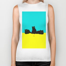 Three Cats Biker Tank