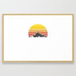 Mount Katahdin Maine Sunset Hiking Framed Art Print