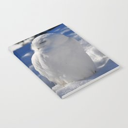 Snowy in the Snow by Teresa Thompson Notebook