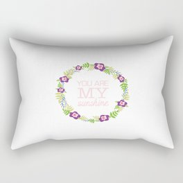 Flower Wreath | You Are My Sunshine Rectangular Pillow