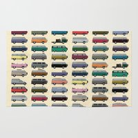 van Area & Throw Rugs featuring Camper Van by WyattDesign