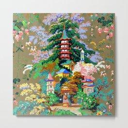 Japanese Landscape Wallpaper Metal Print