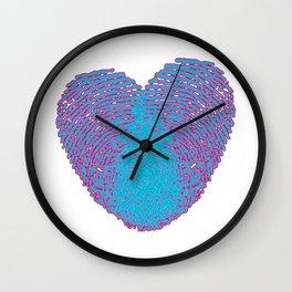 Pop art heart, Turquoise heart, Blue love art, Blue Heart print, Blue Heart graphic, Large heart Wall Clock