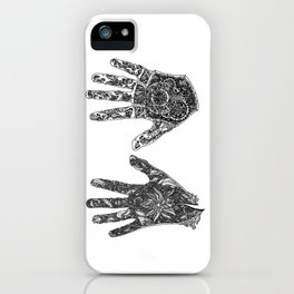 Hands of Contrast iPhone Case