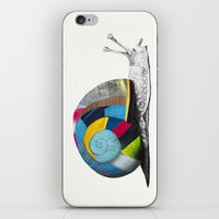 snail iPhone & iPod Skins featuring Snail by Sary and Saff