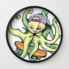 OctoSkater Wall Clock
