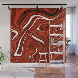 Swirl in Vermillion Wall Mural