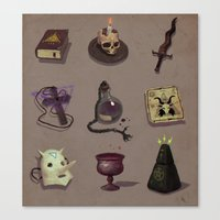 occult Canvas Prints featuring Occult items by henri kutvonen