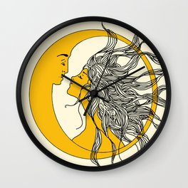 Sun and Moon Wall Clock